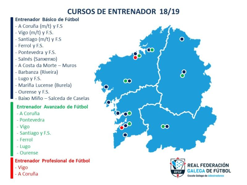 Salceda De Caselas Mapa.Real Federacion Galega De Futbol A Matricula Para O Uefa B